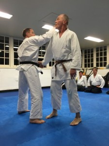 Ian and Michael with an Aikido/Karate freestyle session