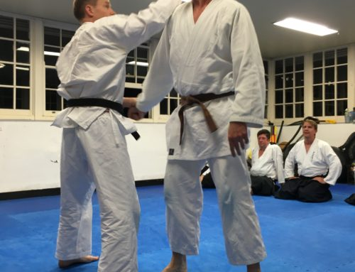 The art of body shifting plus a little Aikido
