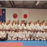 First day attendees practical karate seminar