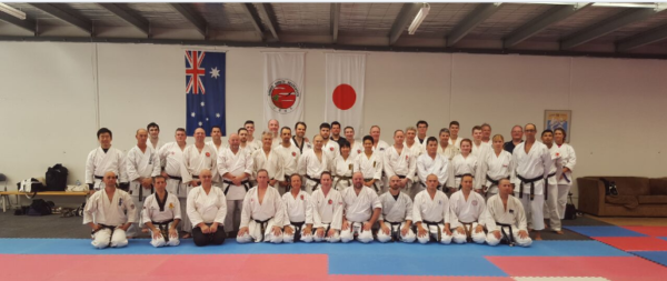 First day attendees practical karate seminar